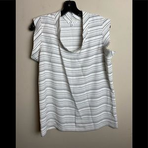 Cabi women's top size small short sleeve white